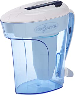 ZeroWater MAIN-50479 12-Cup Ready-Pour Pitcher with Free TDS Meter (Total Dissolved Solids) ZD-012RP, 2.1, Blue