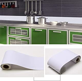 Penck Wallpaper Border Roll Waterproof PVC Self-Adhesive Stick Wall Borders Hoariness Wall Waist Line Border Sticker for Covering Kitchen Bathroom Tiles Decor, Easy to Apply, 10cm x 10m