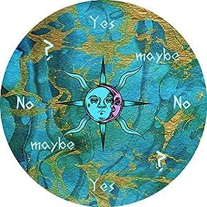 "Sun/Moon Pendulum Board – 5"" Dowsing Divination Metaphysical Message Board"