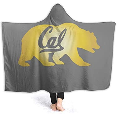 "ALNANI Berkeley Cal Golden Bear Micro Fleece Blanket Throw Twin Travel Size Extra Soft Comfortable Hoodie Cloak-Fall Winter All Season for Indoor Outdoor Gifts, 127cm x 152cm (50"" x 60"")"