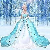 Princesa Vestido de novia Noble Party vestido para la princesa de hielo muñeca Barbie Outfit mejor regalo para Girl 'Doll