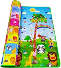 Figment Double Side Waterproof Anti Skid Baby Crawling Play Floor Mat for Kids (Large, 120 x 180 cm, Multicolour)