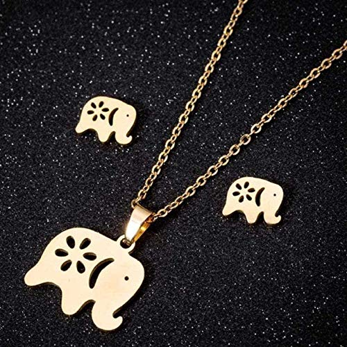 Liuqingzhou Co.,ltd Collar Collar Collar de Acero Inoxidable Conjuntos de Joyas para Mujer Joyería Animal Mariposa Collares Colgantes Pendientes Lindos Regalos para niños