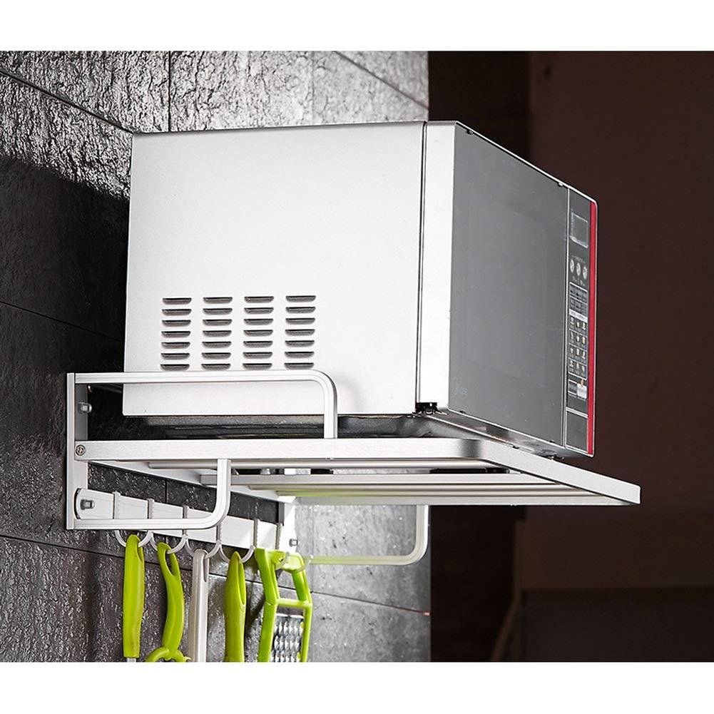 MMD Microondas Horno de Carro de Cocina Estante de exhibición de la Junta extraíble con Ganchos de Colgar - for pequeñas de Almacenamiento de Cocina - 55 * 24cm (Color : B): Amazon.es: Hogar