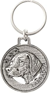 Dog, Dog Breed, Keychain, Key Fob, Key Ring, Pewter Key Chain, Handmade in the USA, Antiqued Pewter