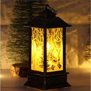 クリスマスデコレーション、サンタクロースエルクスノーマンパターンライト、LEDヴィンテージクリスマスキャンドルティーライト、輝くナイトライト、クリスマスパーティーの装飾用の無火キャンドルランプ(T-3PCS)