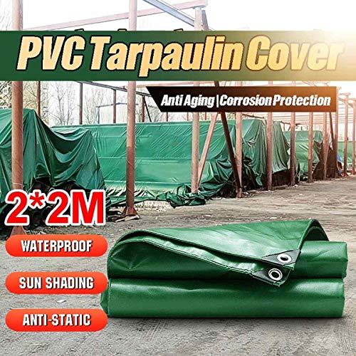 Groundsheet Cover 2x2m Outdoor Green Waterproof Rainproof PVC Tarpaulin Tent Cloth For Truck the Shadows