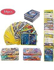 YNK 84 Piezas Pokemon Cartas Sun & Moon, Teamup, Tarjetas de Pokemon, Pokemon Trading Cards, Juego de Cartas, Cartas Coleccionables, GX, EX, Trainer Cartas (Estilo Aleatorio)