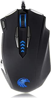 Z-7900 Gaming Mouse Wired, 13 Programmable Buttons (8+5 Side Buttons), RGB Backlit, Marco, 10000 DPI Adjustable, Comfortable Grip Ergonomic Optical Gaming Mice with Tunable Weights, Black