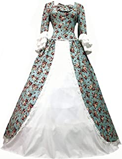 I-Youth Women's Victorian Rococo Dress Civil War Ball Gown Southern Belle Costumes