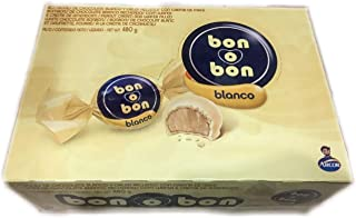 Bon O Bon White Chocolate Wafer and Peanut Cream Filling 16.9 Oz (480g) …