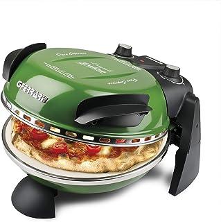 G3 Ferrari Forno Pizza, el Pizza Express original con placa de piedra refractaria (ø 31 cm), color verde