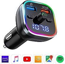 Trasmettitore Bluetooth per Auto VicTsing Trasmettitore FM Bluetooth 5.0 Stabile di Trasmissione Wireless per Musica MP3, QC 3.0 Caricabatterie USB&Kit Vivavoce Supporta Carta TF/Disco U