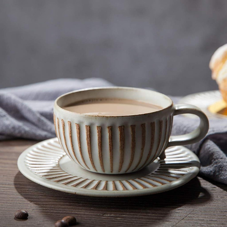LI plaque- Soucoupe de tasse de café de vaisselle de dessert de gateau fait main en céramique (1 paquet) tableware
