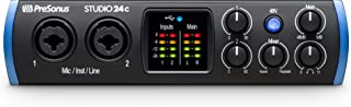 PreSonus Studio 24c 2x2, 192 kHz, USB-C Audio Interface, 2 Mic Pres - 2 Line Outs/New Version (