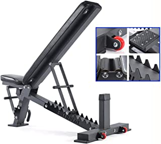 Dumbbell Stools Multifunctional Dumbbell Stools Home Aerobics Chairs Bird Bench Benches Sit-Up Boards (Color : Black, Size...