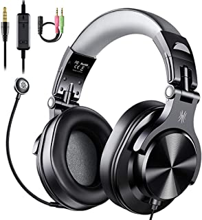 OneOdio Computer Headsets with Microphone - PC Gaming Headphones with Microphone & in-Line Control Mute for Office Zoom Sk...