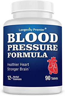 Longevity Blood Pressure Formula [90 Tablets] -Scientifically formulated - with 10+ standardized Herbal extracts & L-Argin...
