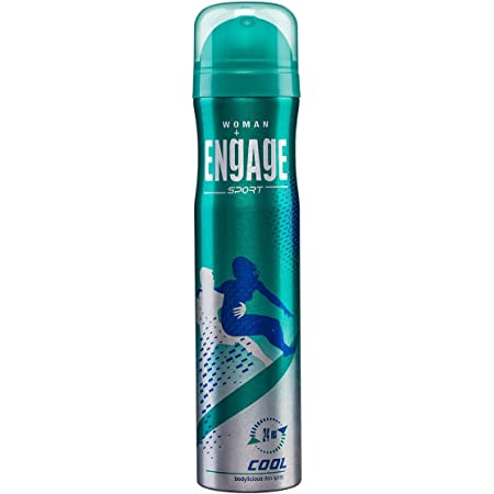 Engage Sport Cool Deodorant for Women, Citrus and Spicy ,Skin Friendly, 165ml