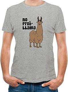 TeeStars Men's - No Prob Llama T-Shirt