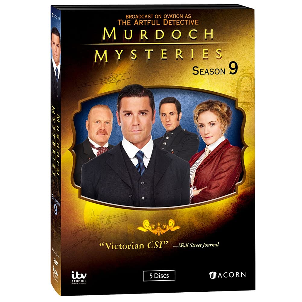 Murdoch Mysteries: Free shipping anywhere in the nation Season 9 - All DVD Discs on 5 List price Episodes Regi