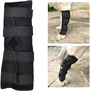 SEISSO Dog Knee Brace for Canine Leg Wound Care, Band Healing Recovery, Sprains Helps with Loss of Stability Caused by Arthritis, Dog Rear Leg Braces