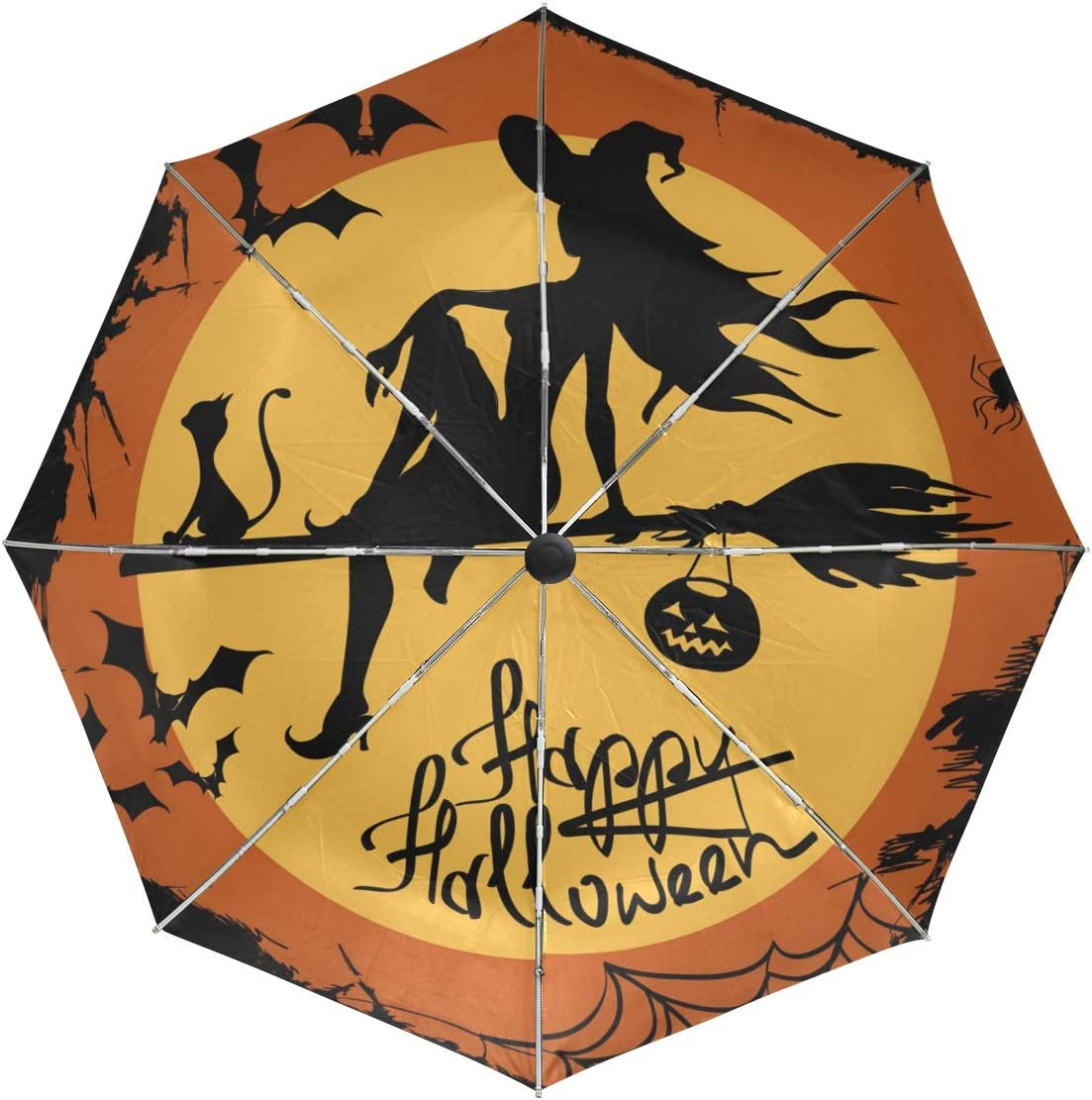 Wamika Automatic Umbrella Happy Windproo trust Witch Award-winning store Pumpkin Halloween