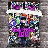 AQEWXBB Juego de ropa de cama Mob Psycho 100% de microfibra suave y cómoda, muy adecuado para los fans del Anime (LN4,135 x 200 cm + 80 x 80 cm x 2)