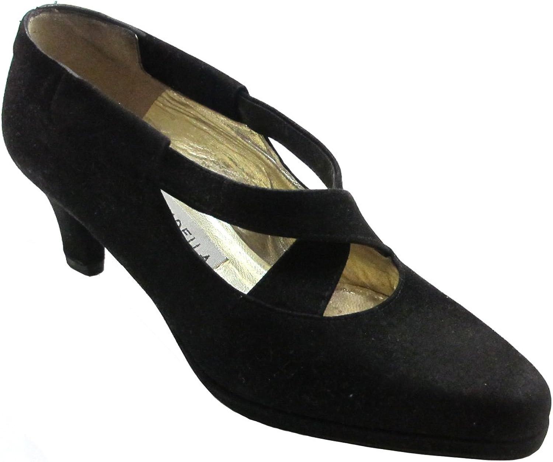 Barbarella 4021 Women's Italian Suede Dressy low heel shoes