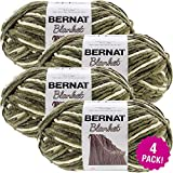 Bernat Gathering Moss, Blanket Big Ball Yarn, Multipack of 4, 4 Pack