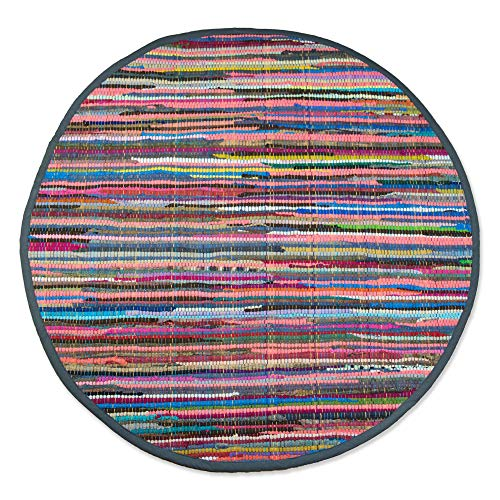 DII Contemporary Reversible Indoor Area Rag Rug, Machine Washable, Handmade from Recycled...