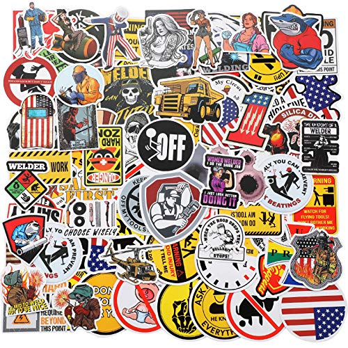 250 Pieces Hard Hat Stickers Funny Vinyl Tool Box Sticker American Patriotic Helmet Decals Funny Stickers Decals for Tool Box Helmet Hardhat Construction Welding Union Ironworker