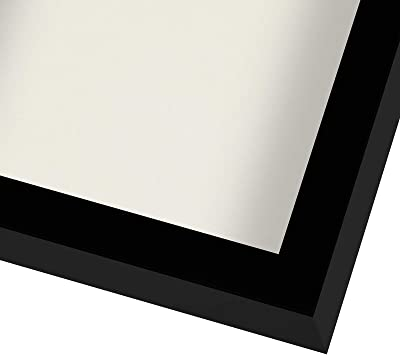 Americanflat 11x11 Black Shadow Box Frame with Soft Linen Back | Shatter-Resistant Glass. Hanging Hardware Included!