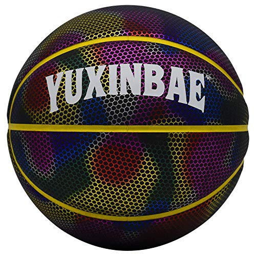 Check Out This YZPXDD Glowing Reflective Basketball Set with Basketball Bag and Pump, Composite Mois...