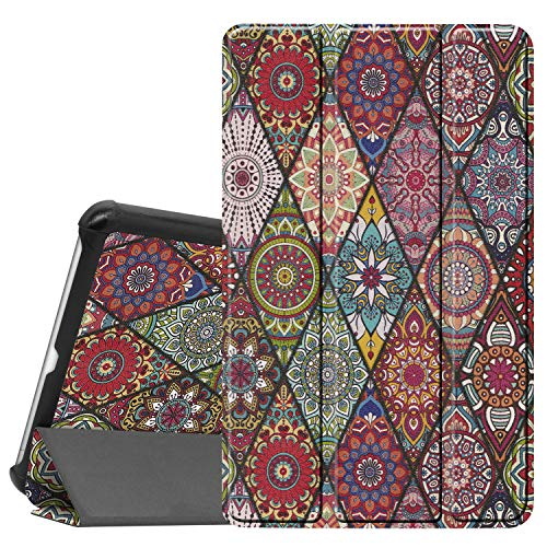 Gylint for LG G Pad 5 10.1 Case, Smart Case Trifold Stand Slim Lightweight Case Cover for LG G Pad 5 10.1 Inches Tablet 2019 Release, Model:LM-T600L, T600L Mandala Floral