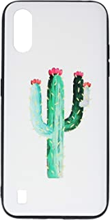جراب خلفي رفيع ثلاثي الابعاد بطبعة صبار لموبايل سامسونج جالاكسي A01 من بوتر - متعدد الالوان