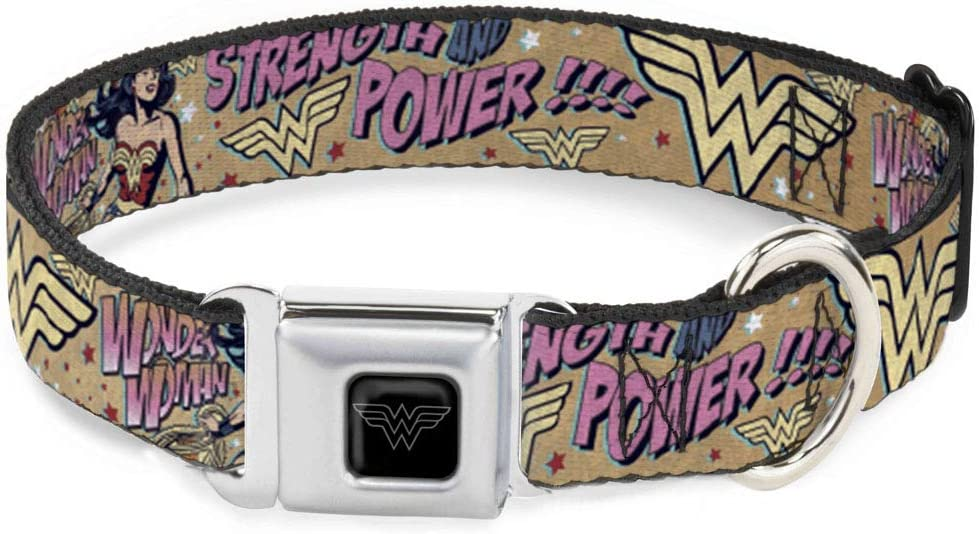 Buckle-Down Max 86% OFF Dog Collar Seatbelt Buckle Woman Cheap mail order sales Pow Strength Wonder