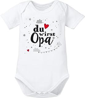 clothinx Baby-Body Bio Geburt Du wirst Opa