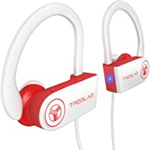 TREBLAB XR100 Bluetooth Sport Headphones, Best Wireless Earbuds for Running Workout, Noise Cancelling Sweatproof Cordless Headset for Gym Use, True Beats Earphones w/Mic, iPhone Android (White)