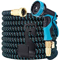 Loohuu 50ft Expandable Garden Hose with 10 Function Spray Nozzle