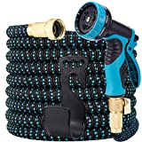 LOOHUU Garden Hose Expandable Kit 50 Feet,Water Hose with Superior Strength 3750D/10 Funct...