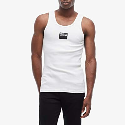 Versace Jeans Couture Ribbed Tank Top (White) Men
