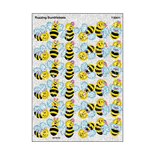 72 x Buzzing Bumblebees Sparkle Stickers [Office Product]