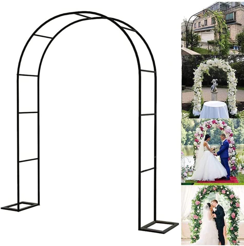 HJZY Steel Arbor Arch Metal Indoor Arc for A surprise price is realized Garden Charlotte Mall Outdoor