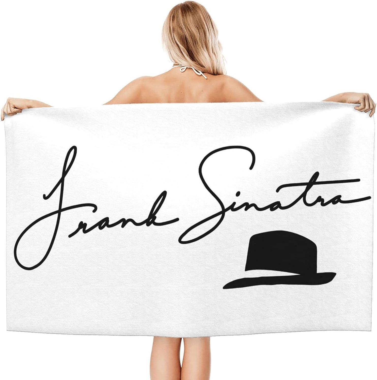 New color Frank Max 61% OFF Sinatra Logo Adult Beach Sof Microfiber Towels Bath