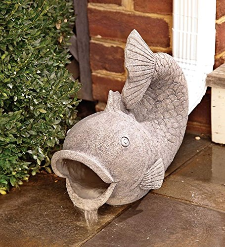 Wind & Weather Friendly Fish Decorative Garden Down Spout