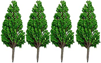 DIY Mixed Model Trees with Base 6 Inch Pine Scenery Models 4 Pack Artificial Trees Train Scenery Architecture Tree Ho Scale Trees Miniature Trees with Bases Metal and Plastic by LLAMEVOL