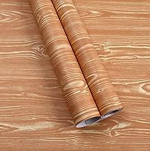 Yija Wood Grain Self Adhesive Sticker PVC Wallpaper Furnitur Cabinets Wardrobe Shelf Liner (022-17.7x79in)