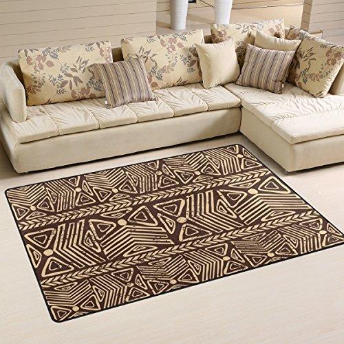 Bolaz African Tribal Print Area Rug Rugs Non-Slip Floor Mat Doormats Living Room Bedroom 60 x 39 inches (60 x 39 inch)