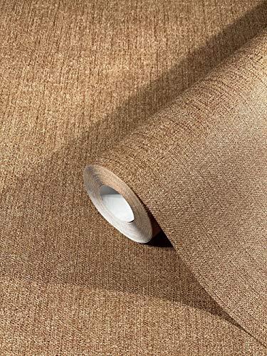 Tapete Bronze Uni SCHÖNER WOHNEN-Kollektion Serie Tessile für Schlafzimmer, Wohnzimmer oder Küche, Made in Germany Premium Qualität 10,05x0,53m